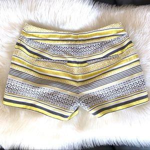LOFT Shorts - Ann Taylor LOFT Riviera shorts in yellow boho